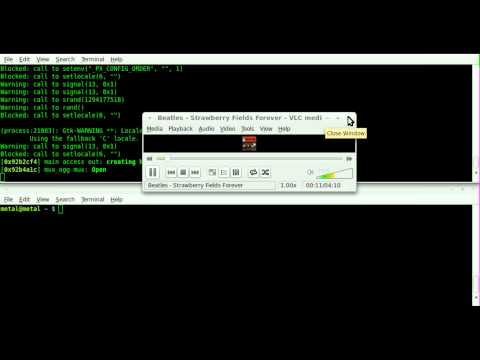 Command Line Streaming audio with VLC - Linux - BASH