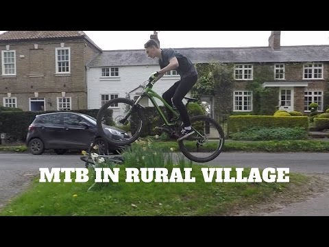 Mountain Biking In  Rural Village | MTB Recovery Ride