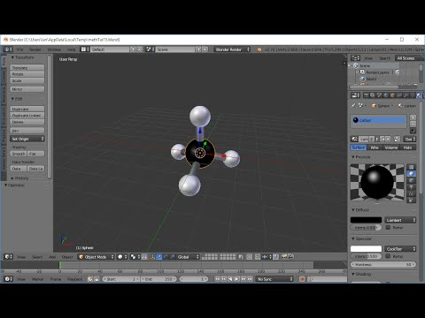 Blender Tutorial - Chemistry, Making 3D Models of Molecules, Making a Methane Molecule