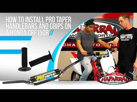 How to Install Pro Taper Handlebars and Grips on a Honda CRF150R with Dorian at Chaparral Moto