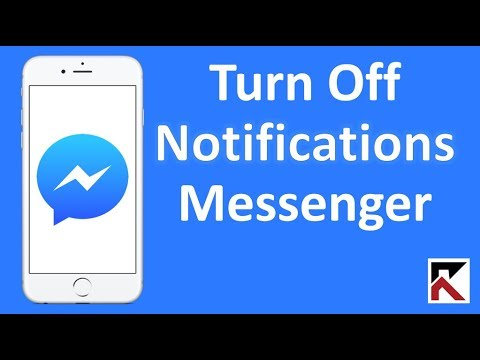 How To Turn Off Facebook Messenger Notifications iPhone