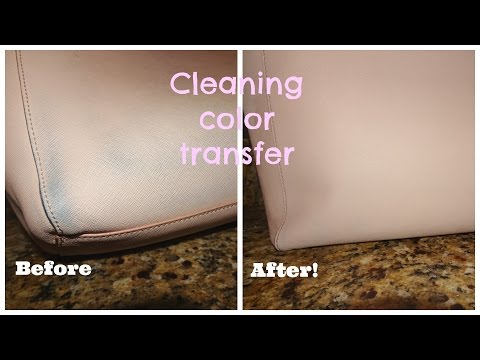 EASIEST way to Clean Color Transfer Off Leather! (: