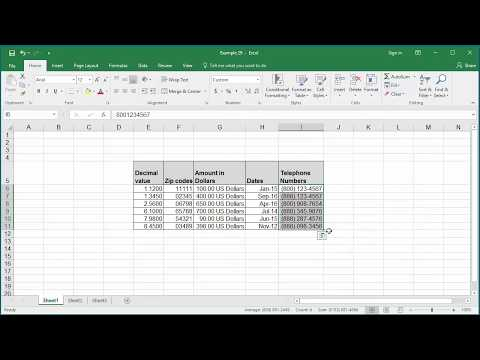 Custom Number Formats in Excel 2016