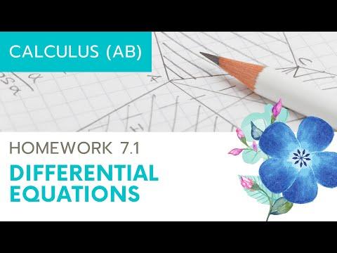 Calculus AB Homework 7.1 Differential Equations