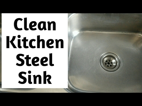 DIY Clean Kitchen Stainless Steel Sink In 3 Simple Steps | How To | CraftLas