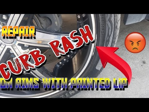 How to Repair Minor Curb Rash on Rims with painted lip