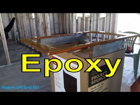 How to Epoxy Countertop and Beer Bottle Cap Coasters - Part 1