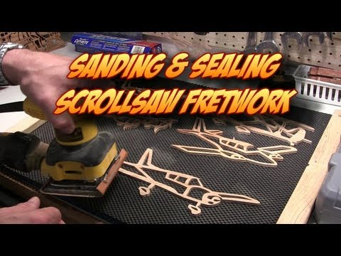 Finishing Scroll Saw Fretwork: Sanding, Dipping in Boiled Linseed Oil, & Sealing