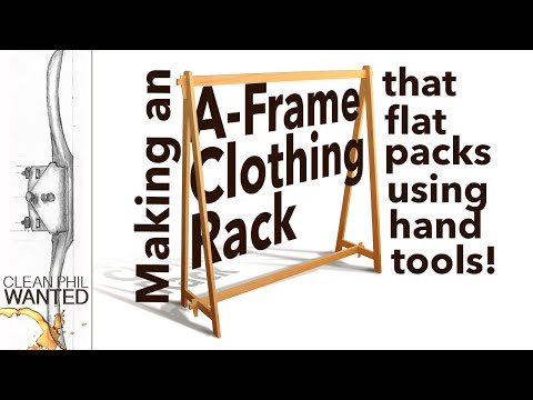Making an A-Framed Clothing Rack that flat packs.