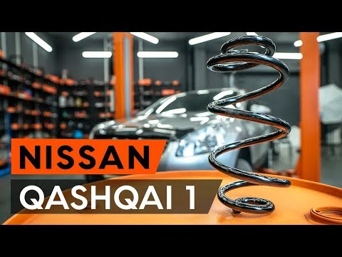 How to replace front springs / front coil springs onNISSAN QASHQAI 1 (J10) [TUTORIAL AUTODOC]