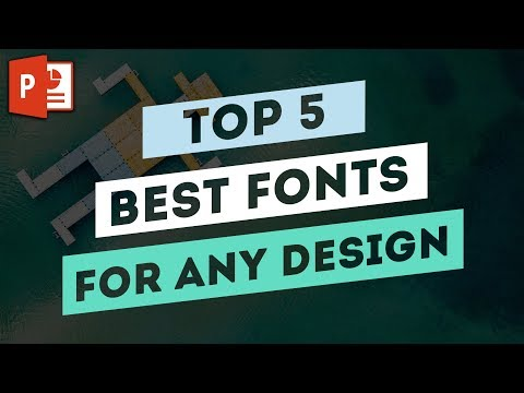 TOP 5 Best Fonts for any Graphic Design Project ✔
