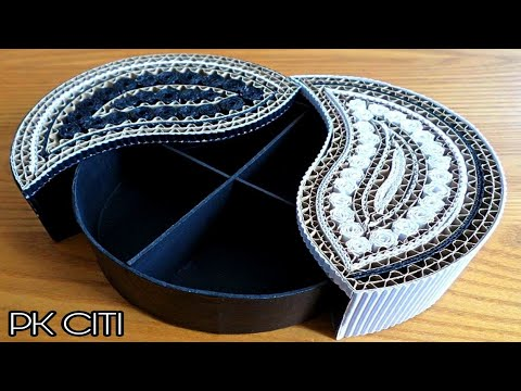 Jewellery box diy || cardboard box || How to make cardboard jewellery box