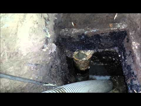 Affordable Septic Tank Service --inlet cleanout and pumping -- HD1080