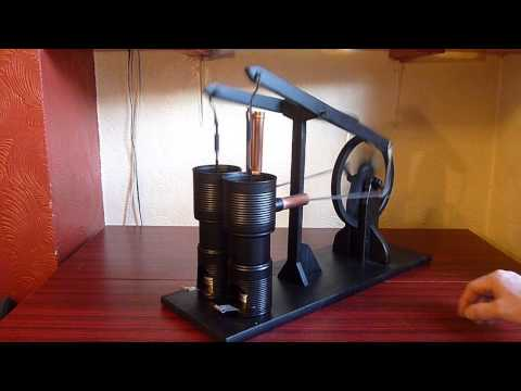 Homemade Twin Walking Beam Stirling Engine
