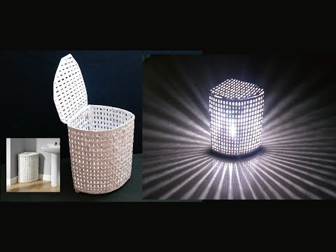How To Make Paper Basket / Lamp Shade (2 in 1) | DIY Basket Making | Best out of waste