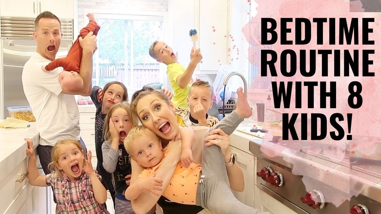 Bedtime routine with 8 KIDS! | Bedtime tips & tricks