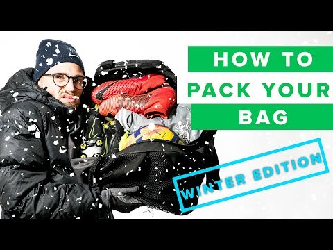 HOW TO PACK FOR WINTER | pack your football bag like a pro