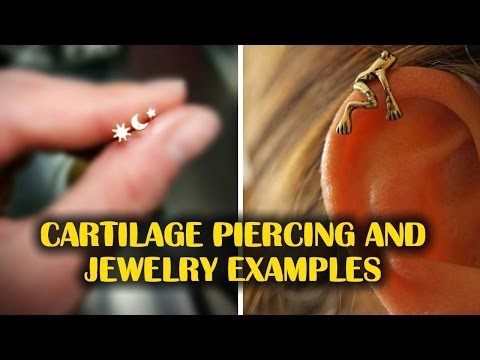 Inspirational Cartilage Piercing and Jewelry Examples