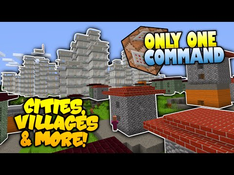 Minecraft | INSTANT Cities Villages & More! | NO MODS | Only One Command (One Command Creation)