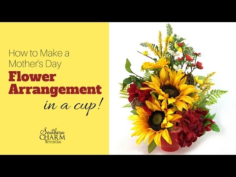 How to Make a Mother's Day Flower Arrangement in a Cup | Mothers Day Flowers