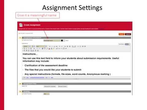 Using the Blackboard Assignment Submission Tool
