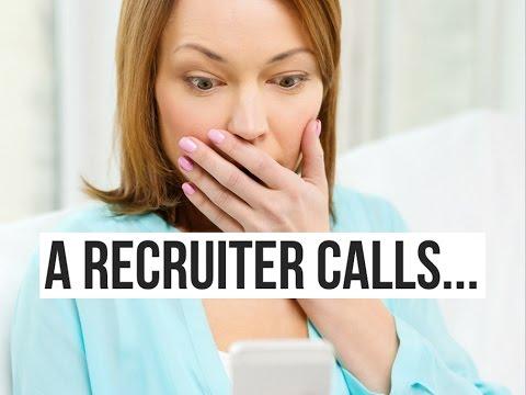 A Recruiter Calls, But I'm Not Prepared
