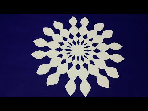 Paper cutting#How to make easy paper cutting design step by step- Easy craft