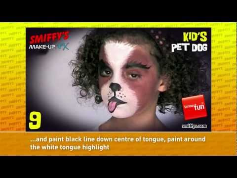 Dog Face Painting Make-up Tutorials for Children