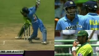 Zaheer Khan and Balaji Full-on Attack against Pakistan to Finish the Innings | 3 WHOOPING SIXES!!