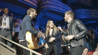 Lady Antebellum Perform What If I Never Get Over You Amongst Fans