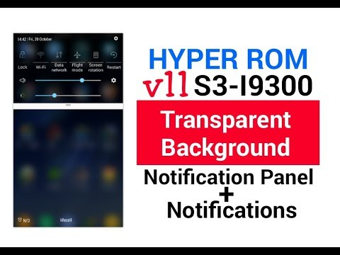 HYPER ROM V11 S3-I9300 Set Transparent Background