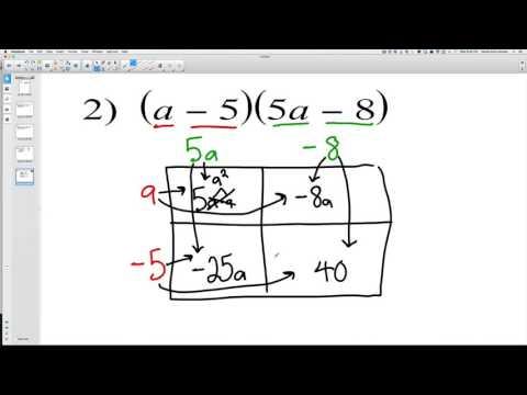 Multiplying polynomials (Box Method)