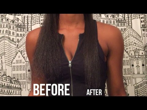 Straightening Natural Hair | Frizzy to Straight