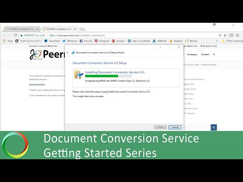 Install | 1 of 5 Document Conversion Service Getting Started Series | PEERNET