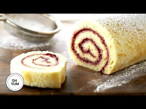 Classic Raspberry Jellyroll | Oh Yum with Anna Olson