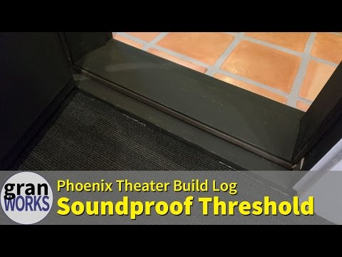 Creating a Custom Threshold for a Soundproof Theater Door