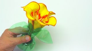 How to Make a Flower with Foam and Plastic Bottles - Art and Craft Ideas: