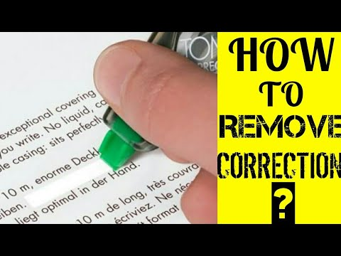 How to use a Correction Tape?