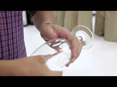 Matt Skinner shows you how to clean and polish wine glasses