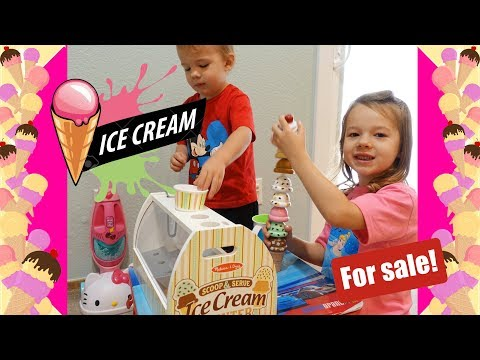 Melissa & Doug Ice Cream Shop in Our Living Room - Pretend Play