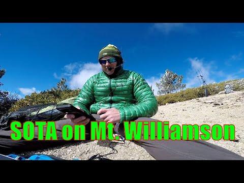 SOTA - Mt Williamson with KM6OIN. W6RIP