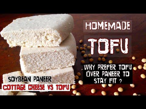 HomeMade Tofu | How to make Tofu at home | Soybean ka Paneer | Dairy Paneer vs Soy Paneer