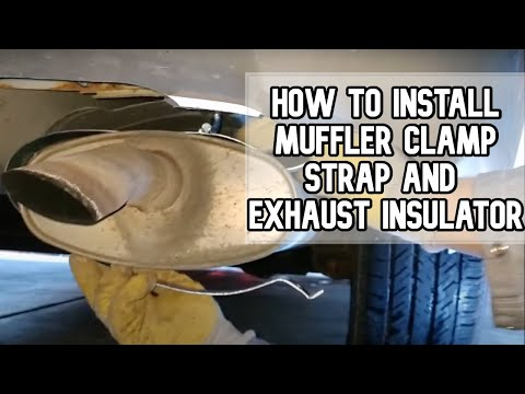 How to install muffler clamp strap and exhaust insulator DIY video