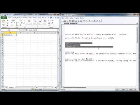 Saving Stata® estimation results to Excel