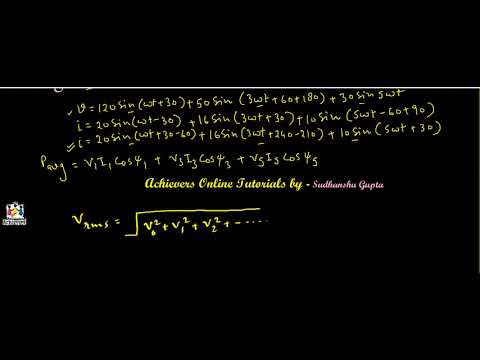 Example - Calculation of Average value of power and overall power factor by Sudhanshu Gupta