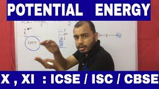 POTENTIAL ENERGY : WORK 03 : Class X , XI : ICSE / ISC /CBSE  :