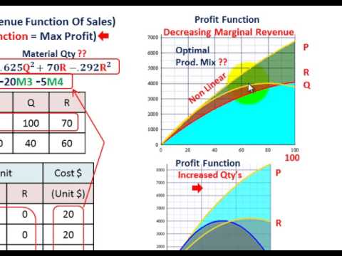 Linear Programming (Maximizing Marginal Revenue, Nonlinear Convave Objective Function)