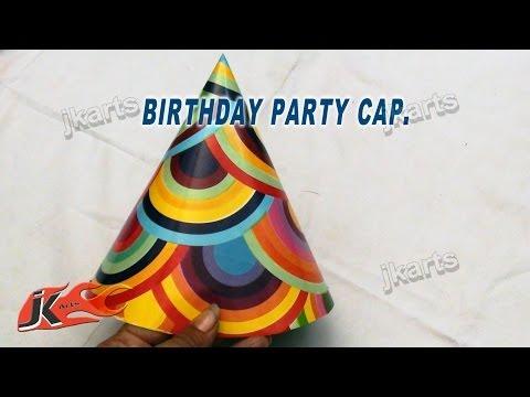 DIY How to make Party Cap   JK Arts 166