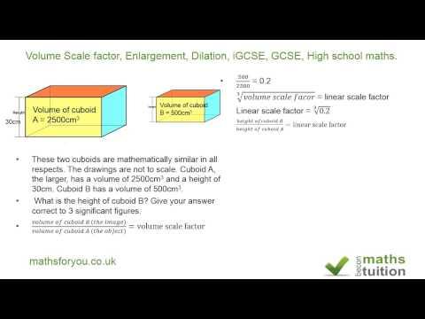 Volume Scale factor, Enlargement, Dilation, iGCSE, GCSE, High school maths