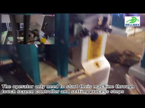 Automatic wood copying shaper for bottle cap making
